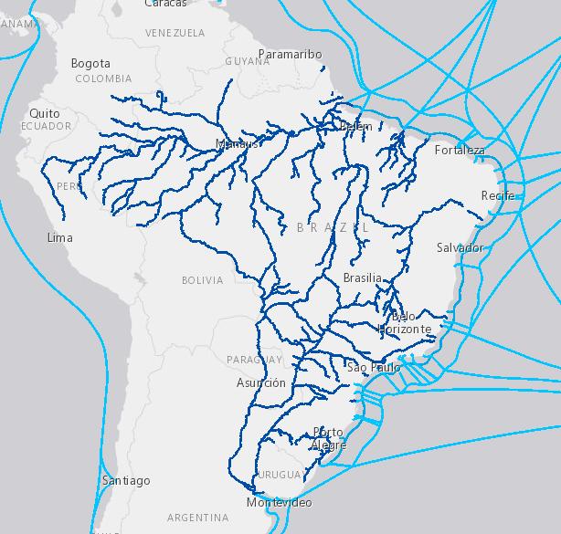 Mapa aquaviário brasileiro