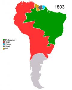 Colonização da América do Sul no início do Século XX.
