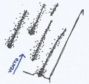 Croqui de uma duna longitudinal