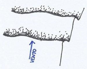 Croqui de uma duna transversal