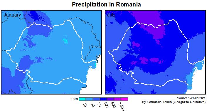 Precipitação na Romênia