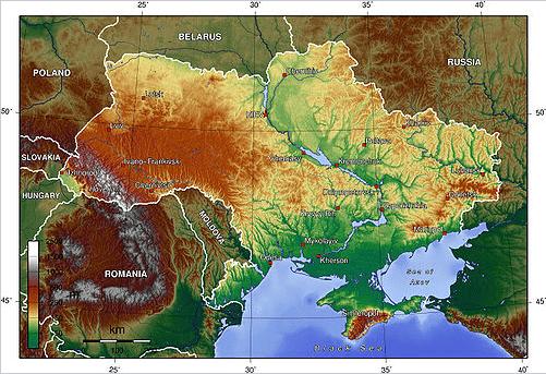 Relevo ucraniano